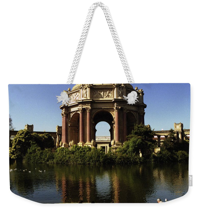 San Francisco Weekender Tote Bag featuring the photograph Palace Of Fine Arts Sf 2 by Lee Santa