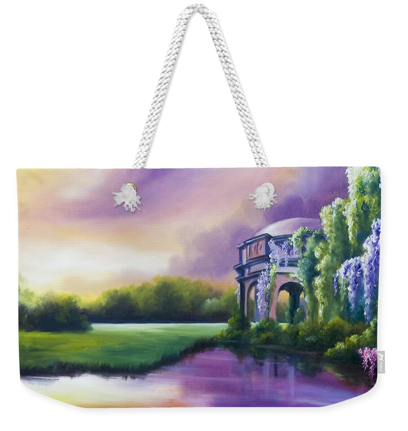Marsh Weekender Tote Bag featuring the painting Palace Of The Arts by James Christopher Hill