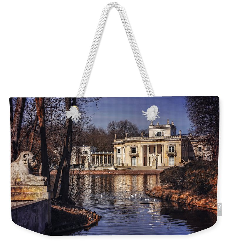 Warsaw Weekender Tote Bag featuring the photograph Palace On The Water by Carol Japp