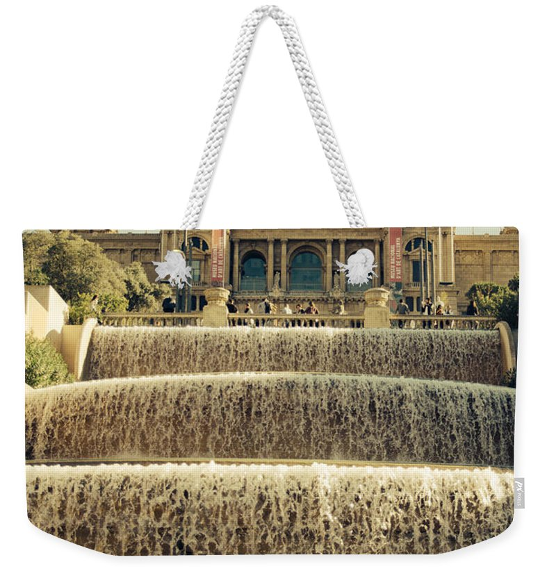 Spain Weekender Tote Bag featuring the photograph Palau Nacional Barcelona by Pati Photography