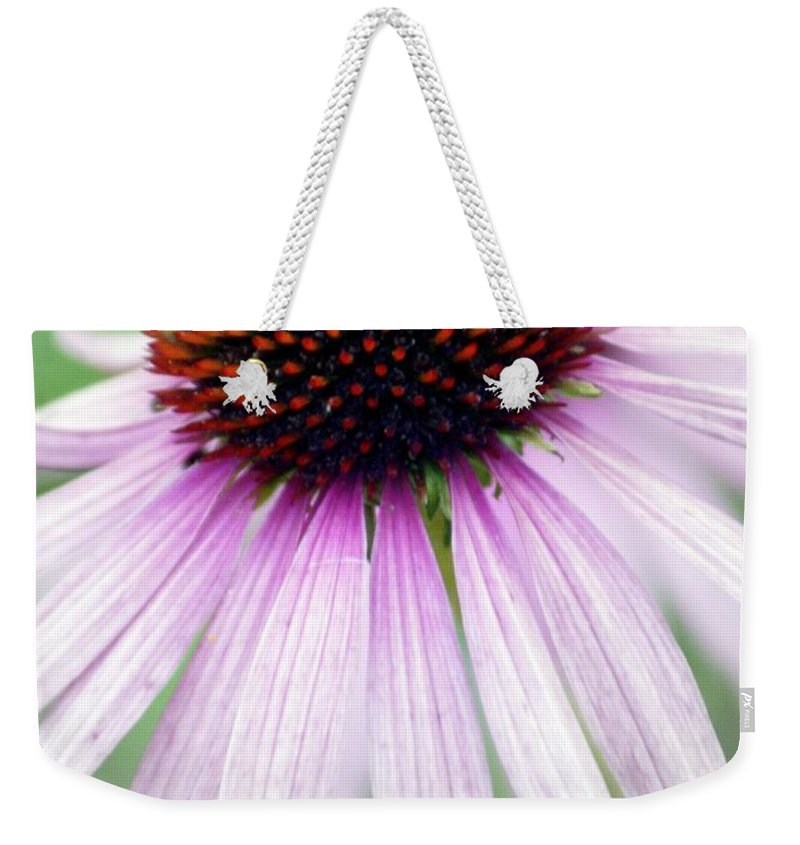 Flowers Weekender Tote Bag featuring the photograph Pale Grey by Marty Koch
