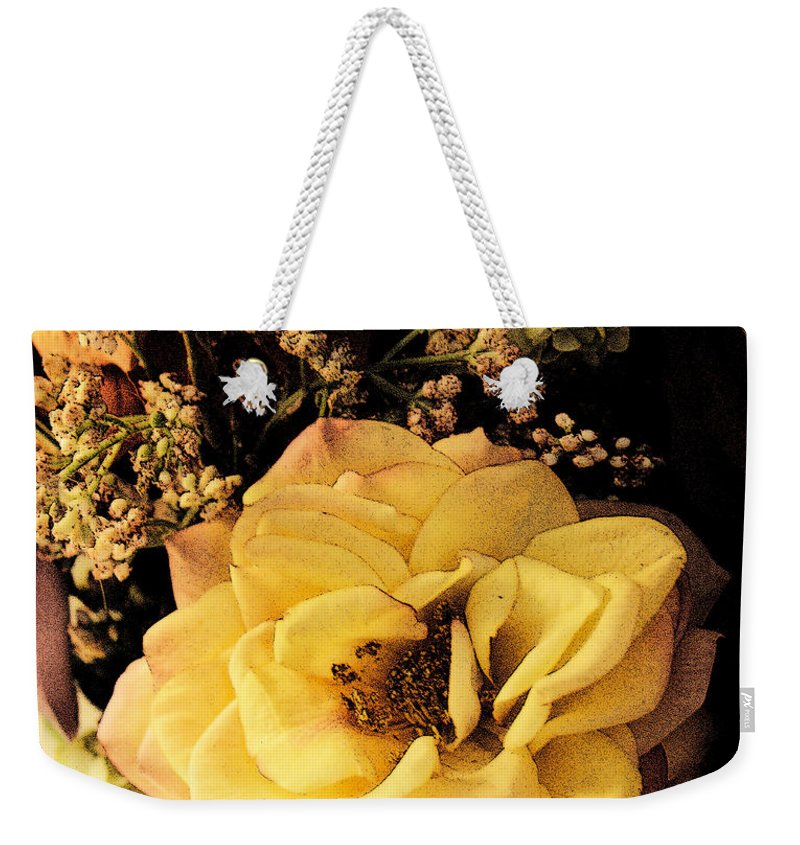 Bloom Weekender Tote Bag featuring the photograph Pale Rose by Marna Edwards Flavell