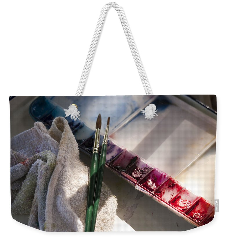 Palette Weekender Tote Bag featuring the photograph Palette by Donna Walsh