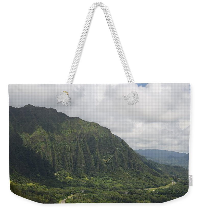 Pali Weekender Tote Bag featuring the photograph Pali by Samantha Peel
