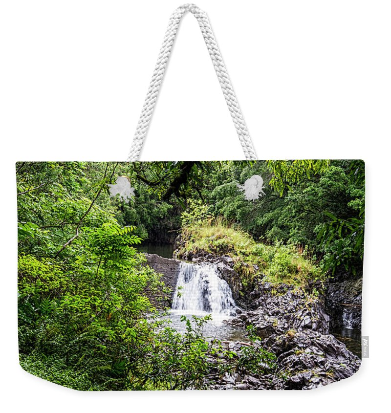 Maui Weekender Tote Bag featuring the photograph Palikes Stream 6 by Keith Ducker