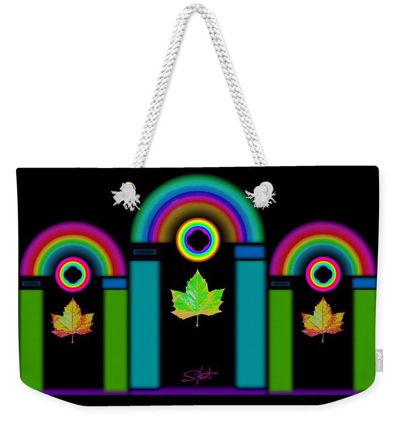 Classical Weekender Tote Bag featuring the painting Palladian Fall by Charles Stuart