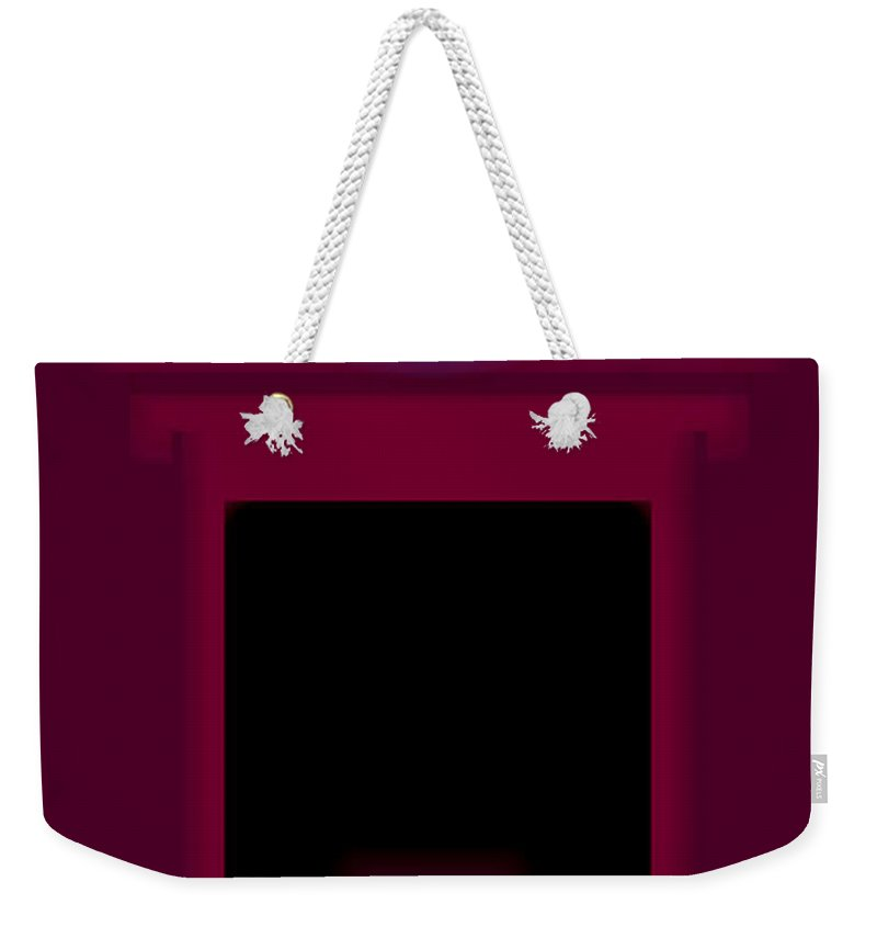 Palladian Weekender Tote Bag featuring the painting Palladian Magenta by Charles Stuart