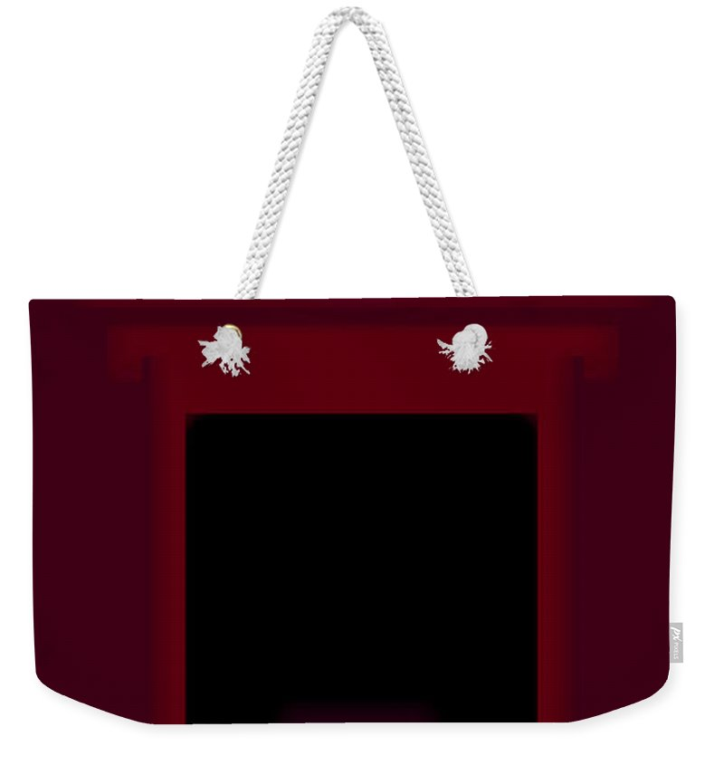Palladian Weekender Tote Bag featuring the painting Palladian Red by Charles Stuart