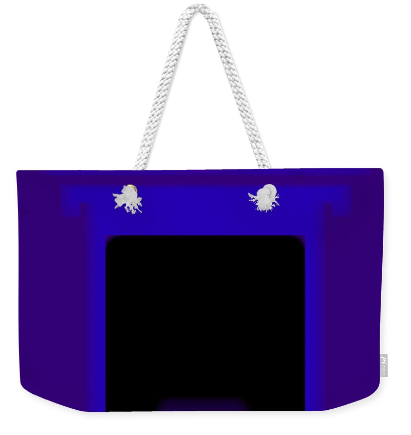 Palladian Weekender Tote Bag featuring the painting Palladian Violet by Charles Stuart