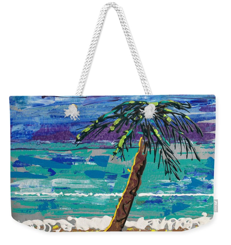 Impressionist Painting Weekender Tote Bag featuring the painting Palm Beach by J R Seymour