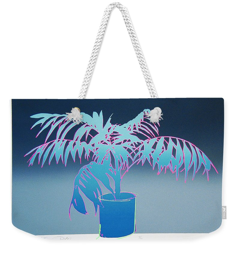 Plants Weekender Tote Bag featuring the mixed media Palm by Charles Stuart