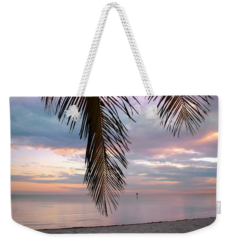 Palm Weekender Tote Bag featuring the photograph Palm Courtain II by Susanne Van Hulst