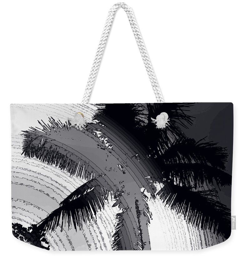 Palm Weekender Tote Bag featuring the photograph Palm In Grey by Ian MacDonald