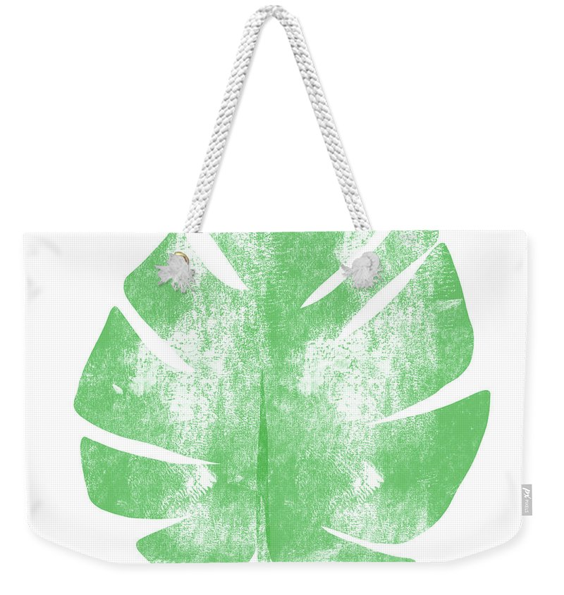 Palm Weekender Tote Bag featuring the painting Palm Leaf- Art By Linda Woods by Linda Woods