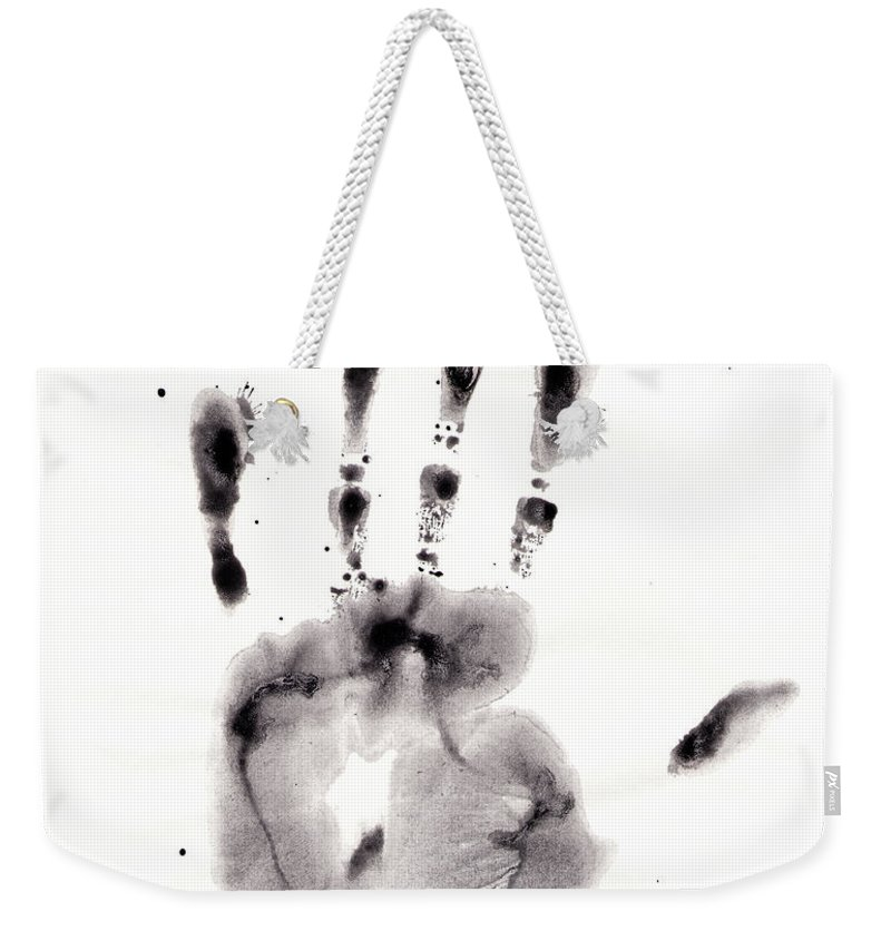 Palm Weekender Tote Bag featuring the digital art Palm by Michal Boubin