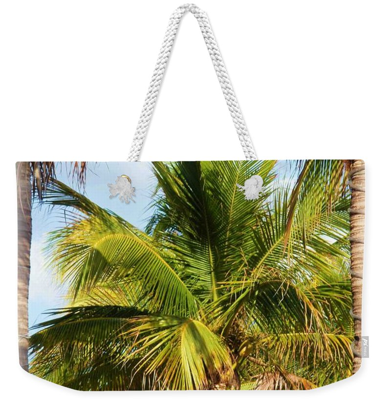 Palm Weekender Tote Bag featuring the photograph Palm Portrait by Nelson Strong