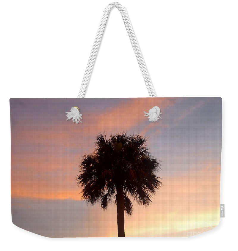 Palm Tree Weekender Tote Bag featuring the photograph Palm Sky by David Lee Thompson
