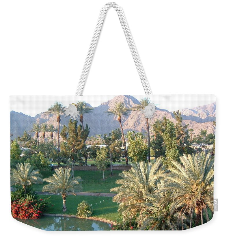 Landscape Weekender Tote Bag featuring the photograph Palm Springs Ca by Cheryl Ehlers