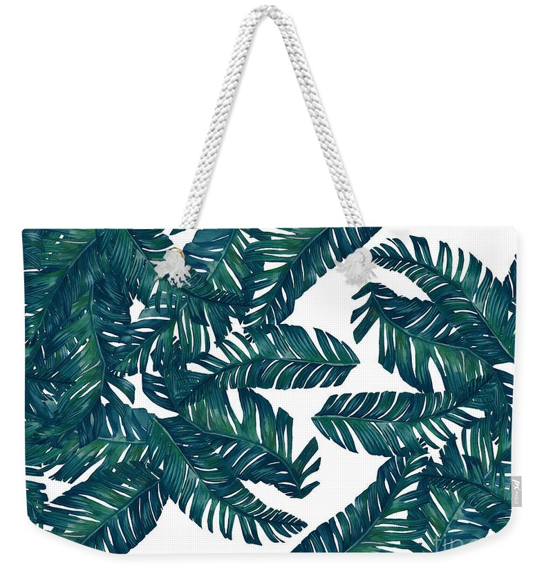Summer Weekender Tote Bag featuring the photograph Palm Tree 7 by Mark Ashkenazi