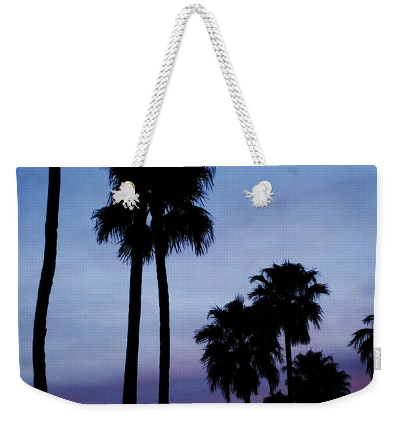 Palm Trees Weekender Tote Bag featuring the photograph Palm Trees At Sunset by Jill Reger