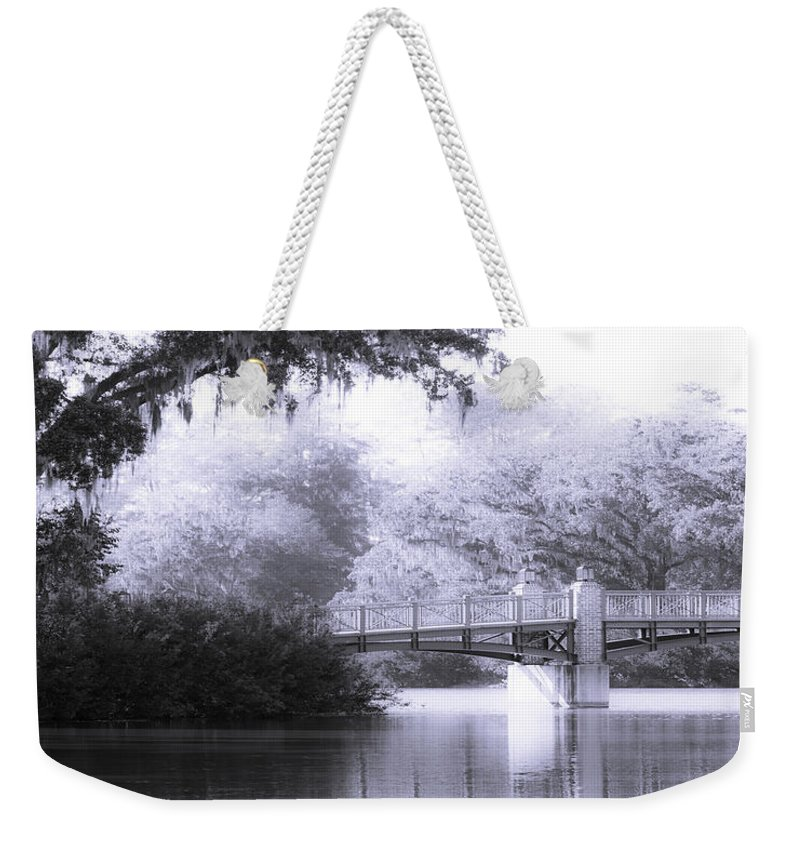 Art Weekender Tote Bag featuring the photograph Palmetto Bluff Bridge by Mary Sparrow