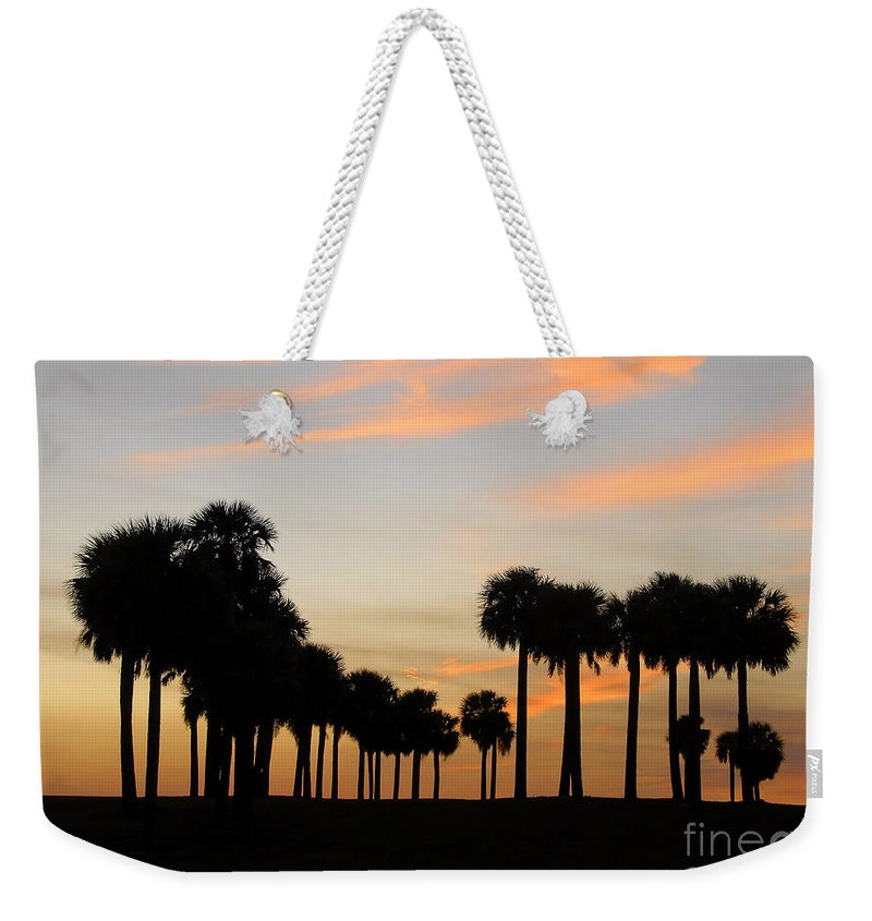 Palm Trees Weekender Tote Bag featuring the photograph Palms At Sunset by David Lee Thompson
