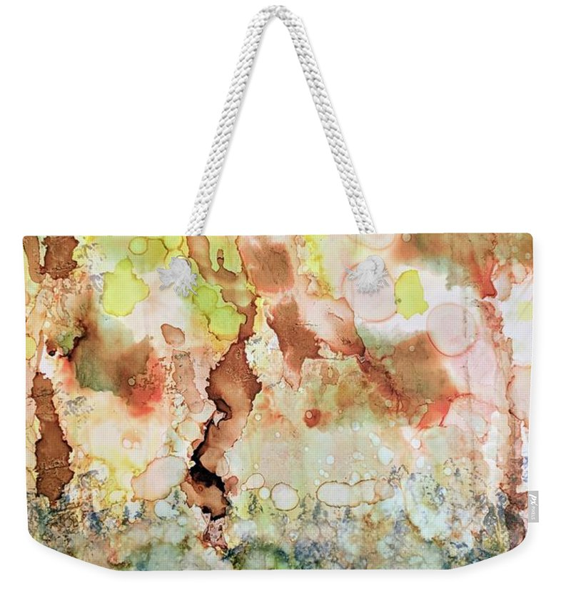 Abstract Weekender Tote Bag featuring the painting Palms by Valery Elias