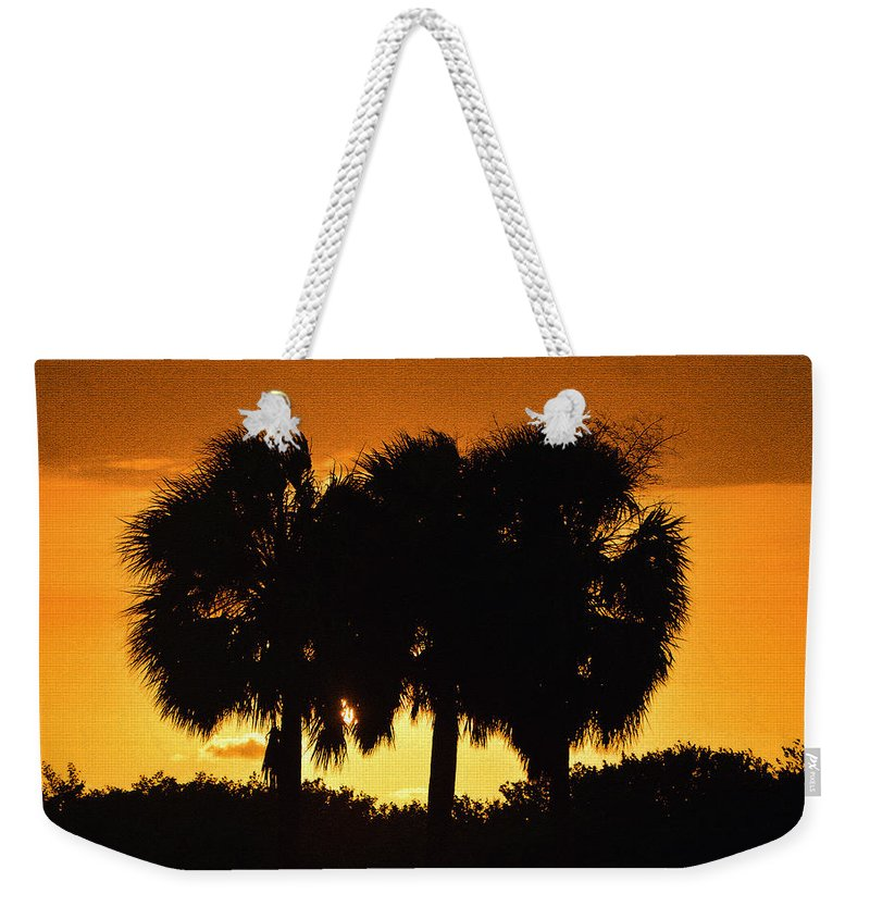 Palm Trees Weekender Tote Bag featuring the photograph Palmset by David Lee Thompson