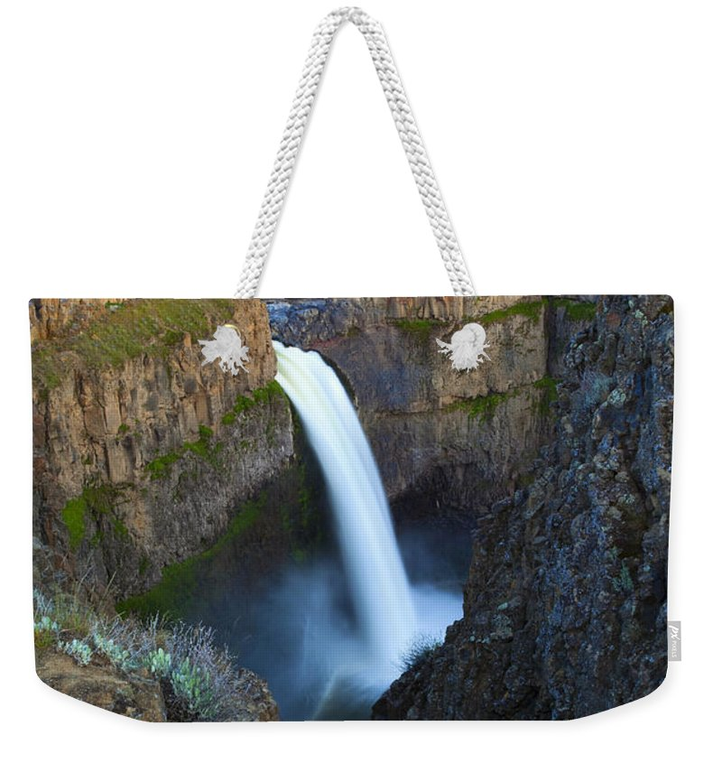 Palouse Falls Weekender Tote Bag featuring the photograph Palouse Falls by Mike Dawson