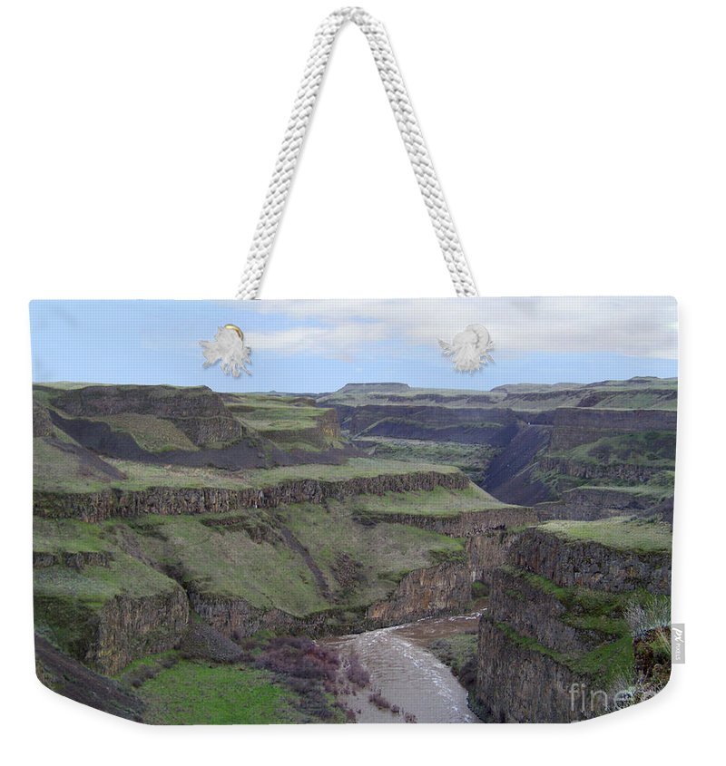 Palouse River Weekender Tote Bag featuring the photograph Palouse River Canyon by Charles Robinson