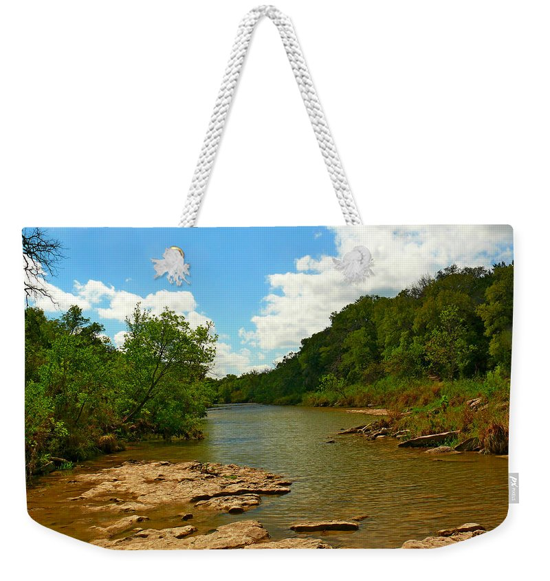 Creek Weekender Tote Bag featuring the photograph Paluxy River by Robert Brown