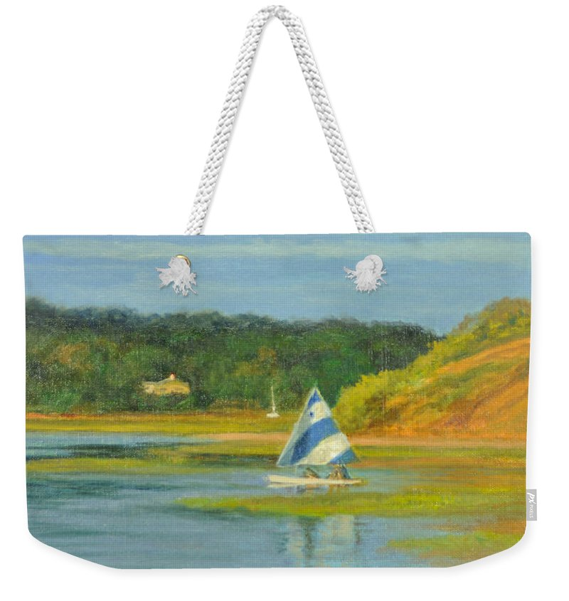 Cape Cod Weekender Tote Bag featuring the painting Pamet Harbor Early Evening by Phyllis Tarlow