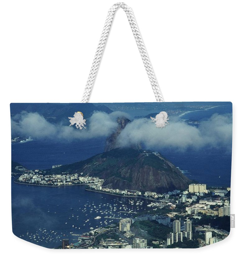 South America Weekender Tote Bag featuring the photograph Pan De Azucar - Rio De Janeiro by Juergen Weiss