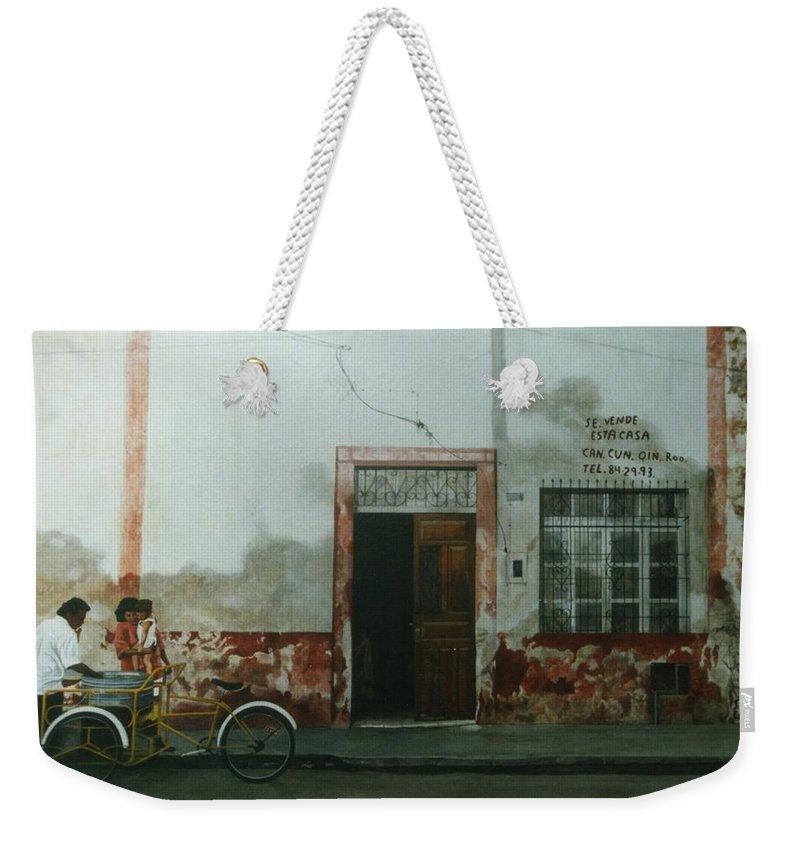Hyperrealism Weekender Tote Bag featuring the painting Pan Dulce Man by Michael Earney