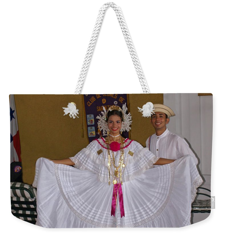 Greeters Weekender Tote Bag featuring the photograph Panama Greetings by Heather Coen