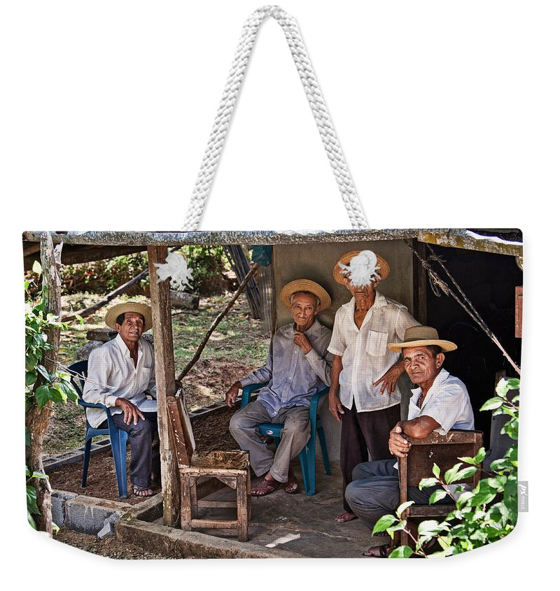 Four Weekender Tote Bag featuring the photograph Panamanians by Tatiana Travelways