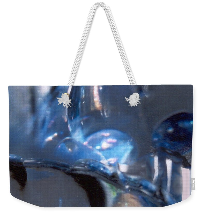 Glass Weekender Tote Bag featuring the photograph Panel 2 From Swirl by Steve Karol