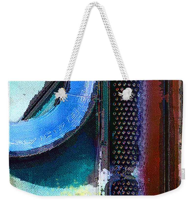 Abstract Weekender Tote Bag featuring the photograph panel one from Centrifuge by Steve Karol