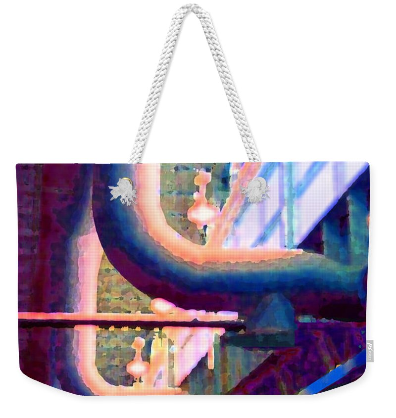Abstract Weekender Tote Bag featuring the photograph panel one from Star Factory by Steve Karol