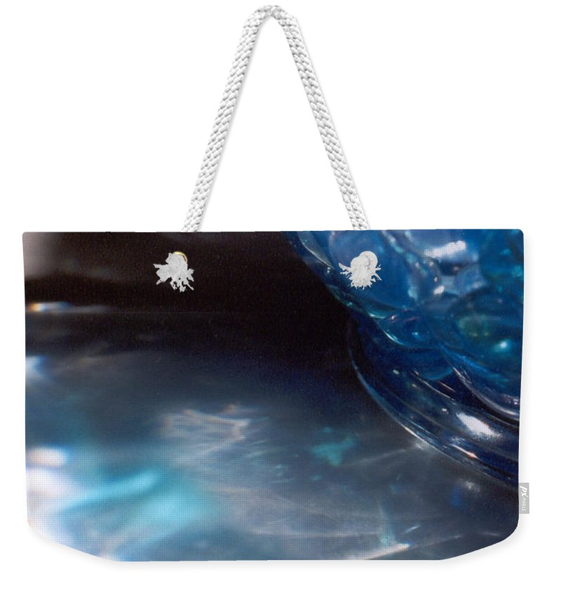Abstract Weekender Tote Bag featuring the photograph Panel One From Swirl by Steve Karol