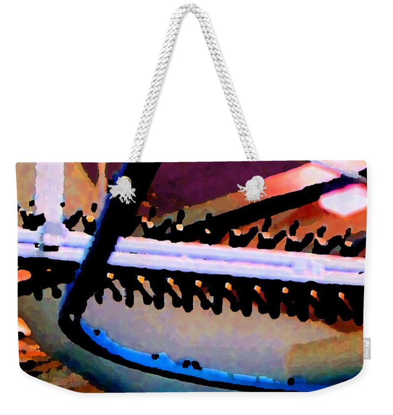 Abstract Weekender Tote Bag featuring the photograph Panel Three From Star Factory by Steve Karol