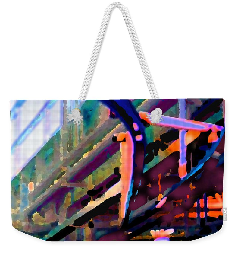 Abstract Weekender Tote Bag featuring the photograph panel two from Star Factory by Steve Karol