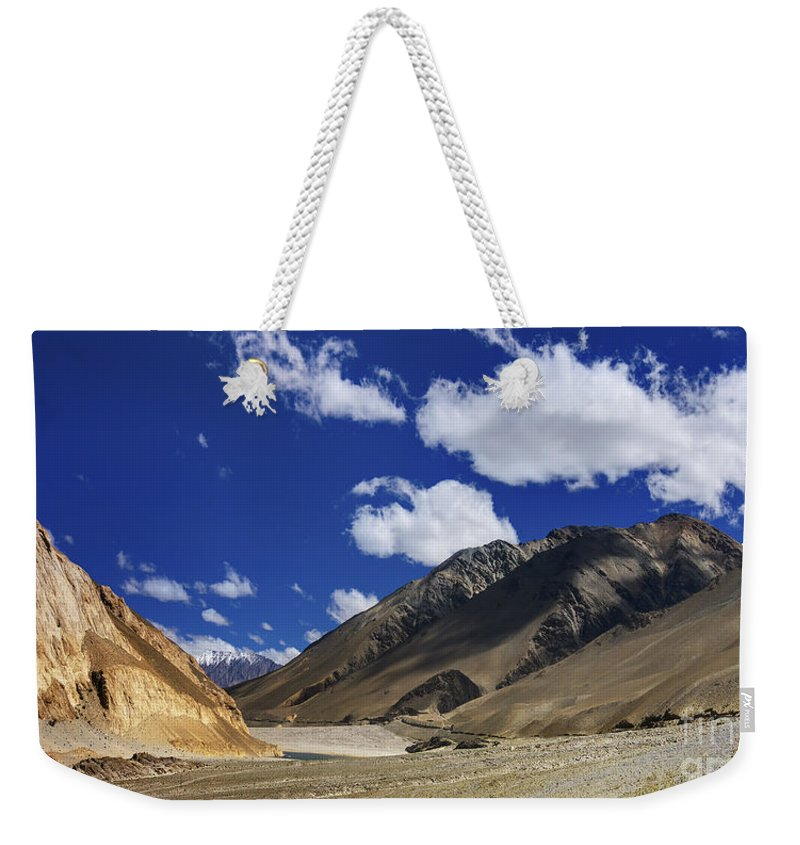 Ladakh Weekender Tote Bag featuring the photograph Panrama Of Mountains Ladakh Jammu And Kashmir India by Rudra Narayan Mitra