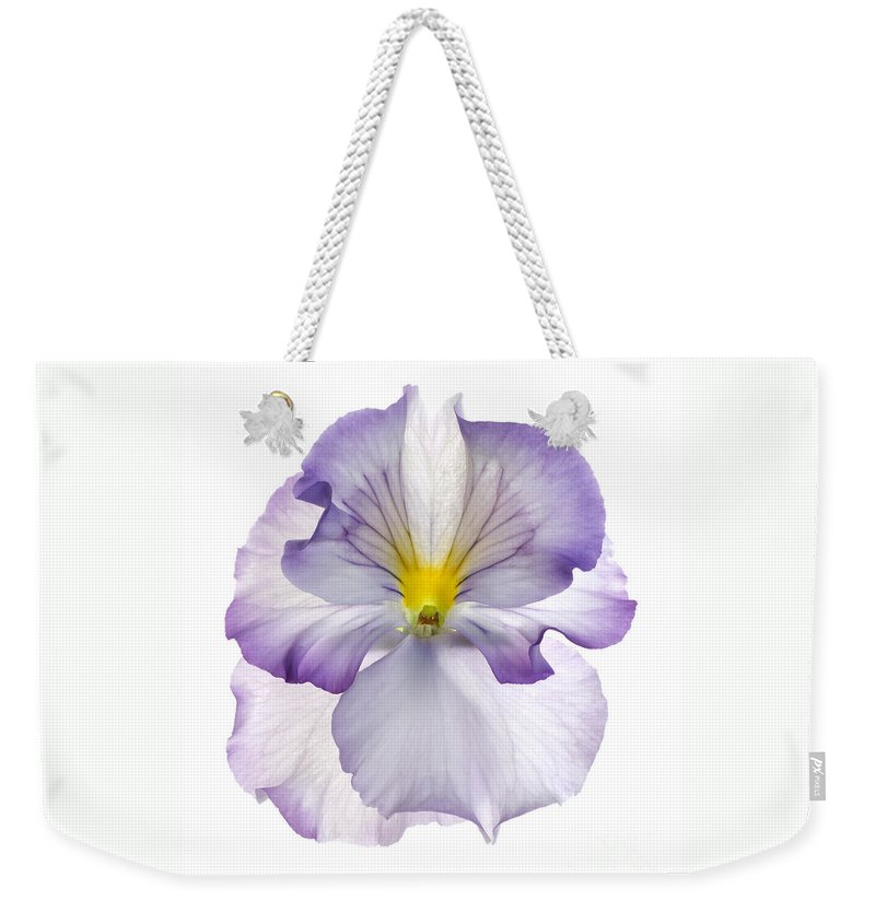Pansy Genus Viola Weekender Tote Bag featuring the photograph Pansy by Tony Cordoza