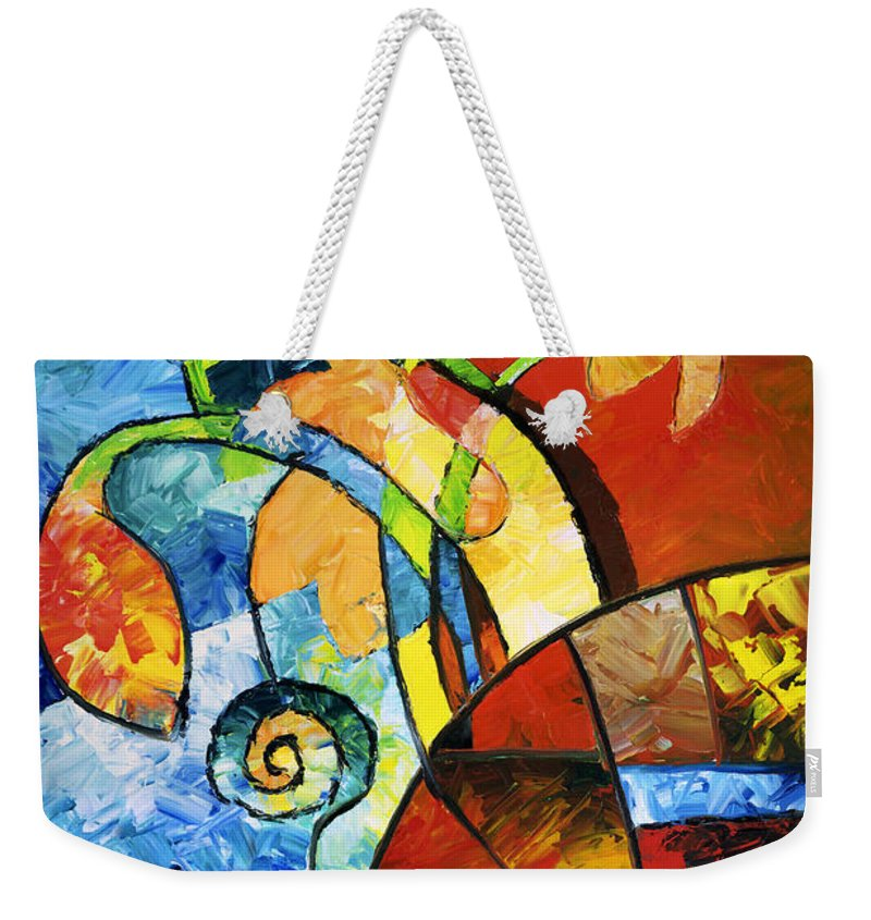 Flower Weekender Tote Bag featuring the painting Paper Flowers by Sally Trace