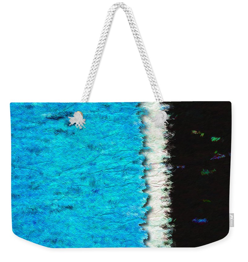 Blue Weekender Tote Bag featuring the photograph Papier A La Main by Paul Wear