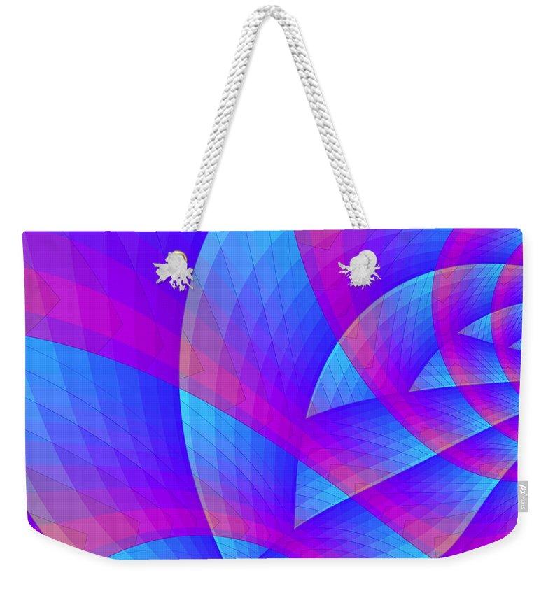 Fractal Weekender Tote Bag featuring the digital art Parabolic by Jutta Maria Pusl