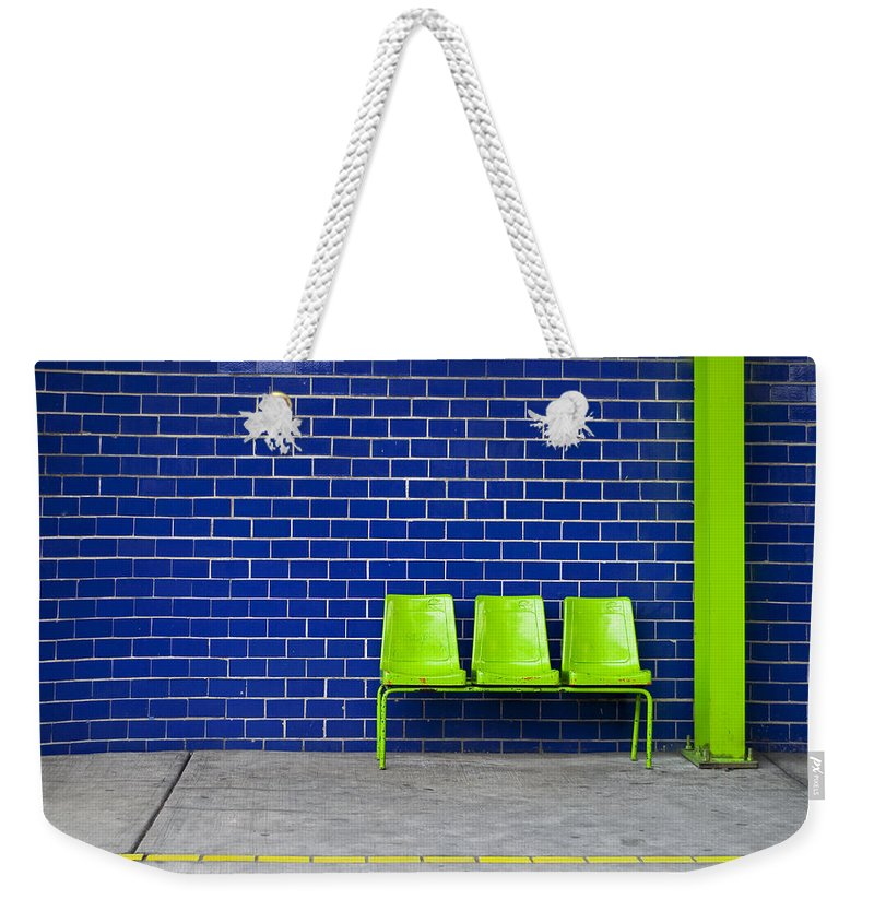 Green Weekender Tote Bag featuring the photograph Paradaxochi by Skip Hunt