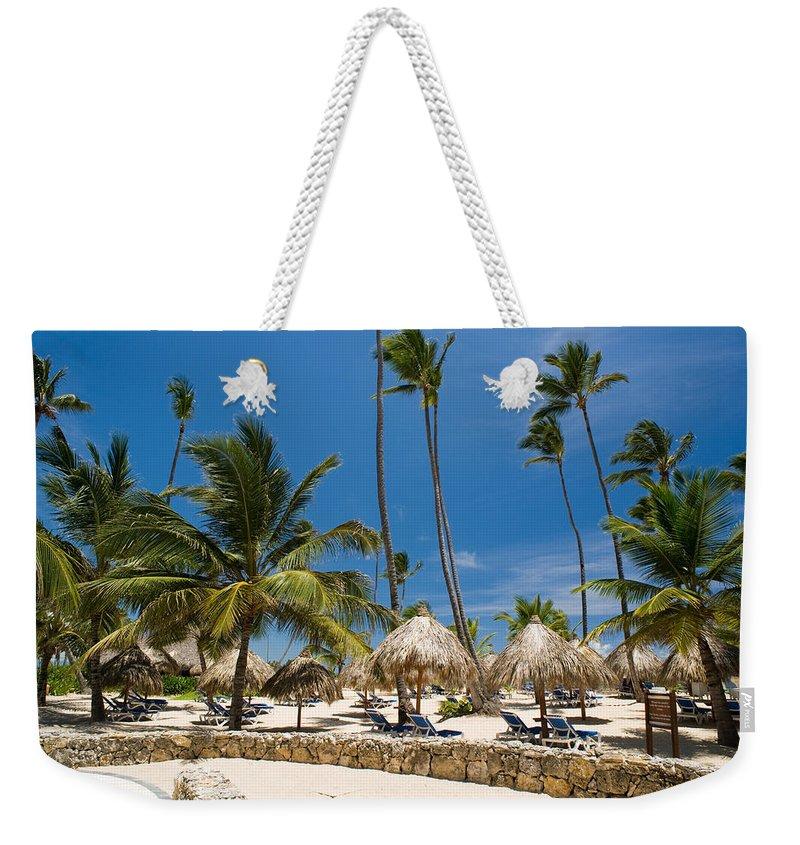 Beach Weekender Tote Bag featuring the photograph Paradise Beach by Sebastian Musial