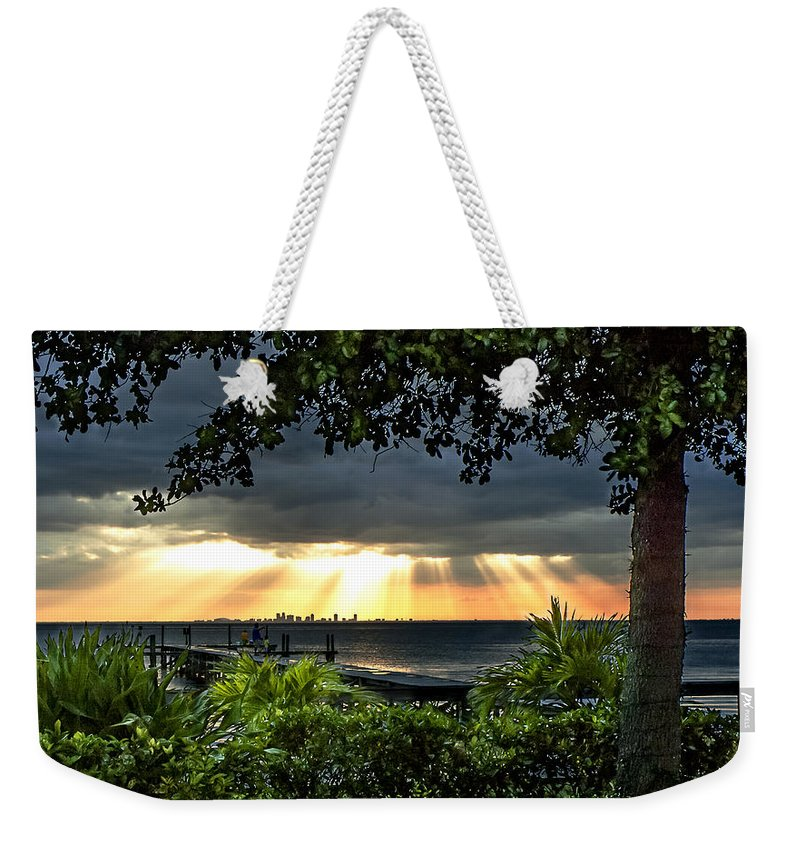 Sunset Weekender Tote Bag featuring the photograph Paradise Found by Norman Johnson